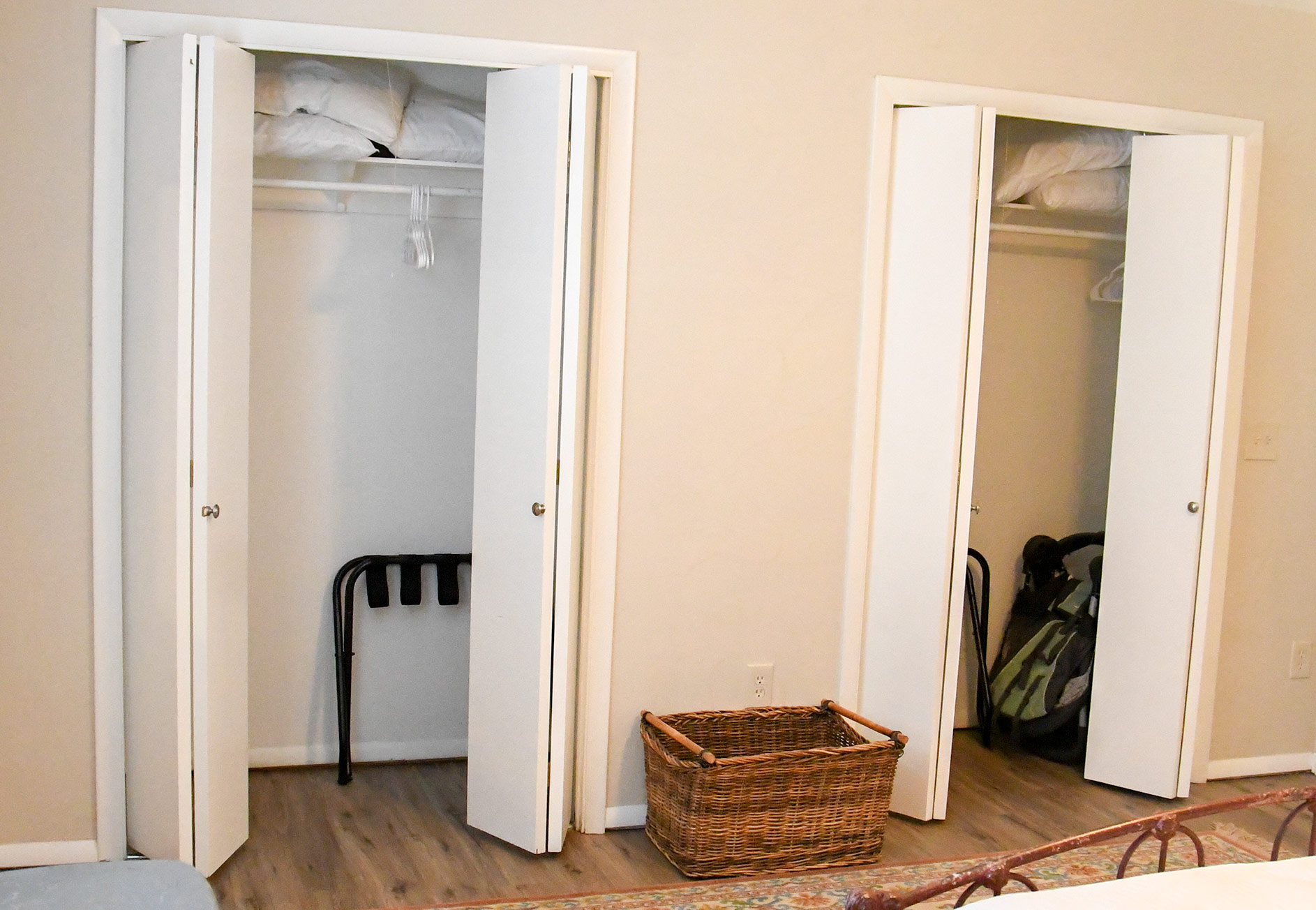 Lake City Rental - Bedroom Closets